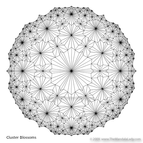 Cluster Blossoms by The Mandala Lady